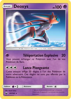 Carte Pokémon Deoxys 69/168 de la série Tempête Céleste en vente au meilleur prix