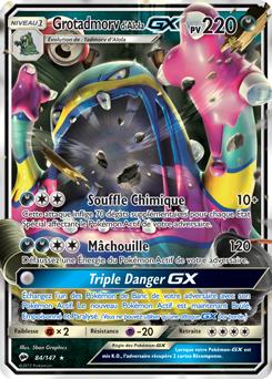 Carte Pokémon Grotadmorv d'Alola GX 84/147 de la série Ombres Ardentes en vente au meilleur prix
