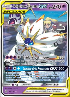 Carte Pokémon Solgaleo Lunala GX 75/236 de la série Éclipse Cosmique en vente au meilleur prix