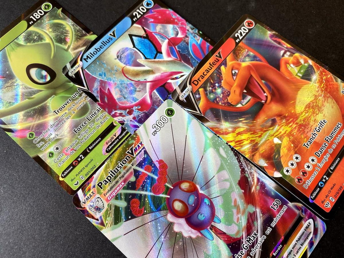 POKEMON Cards V VMAX EN Celebi Dhelmise Butterfree Eldegoss Rillaboom