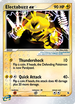 electabuzz ex 97 109 pokemon card from ex ruby sapphire for sale at best price blue umbreon