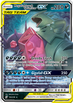 Mega Sableye /& Tyranitar Tag Team GX Ultra Rare Unified Minds 126//236