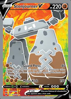 Near Mint Ultra Rare Stonjourner V 193//202 Holo Full Art Pokemon Card