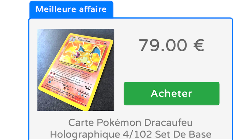 Comparateur de prix cartes Pokémon